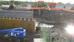 Grand Avenue Bridge construction.