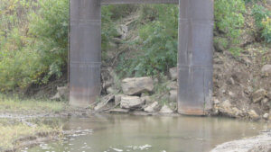 The base of the original Grand Avenue Bridge