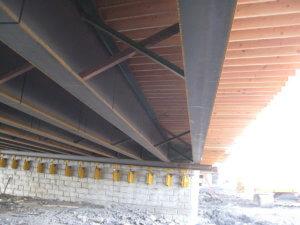 The beams beneath the Grand Avenue Bridge.