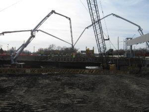 Grand Avenue Bridge under construction in Des Moines, Iowa.