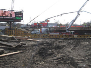 Grand Avenue Bridge under construction.