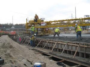 Bridge on Grand Avenue under construction.