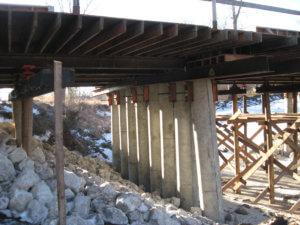 Jasper County Bridge Pillars