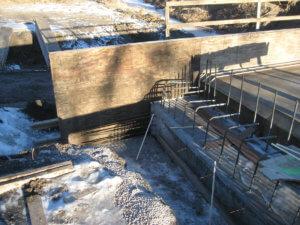 Jasper County bridge construction underway in Iowa.