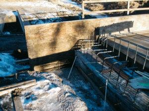 Jasper County bridge site progress.