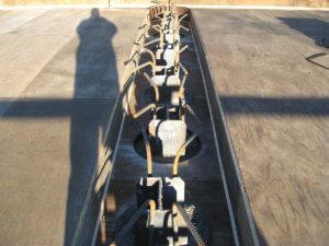 Jasper County bridge construction underway.