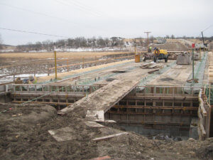 Warren County Bridge construction underway by Herberger.