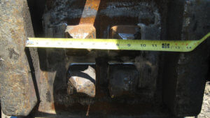 Measurements of elements of the Massena bridge project.