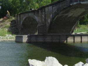 LaPorte City Bridge side angle view.