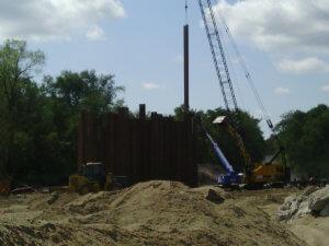 LaPorte City Bridge construction.