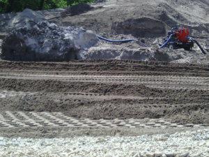 LaPorte City Bridge site construction begins.