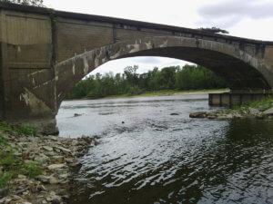 LaPorte City Bridge archway.