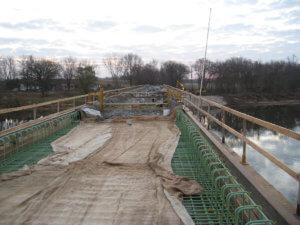 LaPorte bridge top construction.