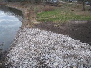 Water beneath the LaPorte bridge site.
