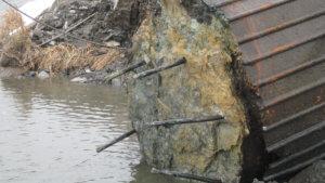 Herberger crews work on the demolition of an Ottumwa bridge.