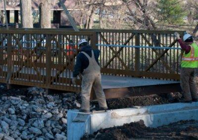 Walker Johnston Bridge Placement