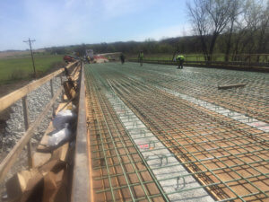 Otter Creek bridge is prepped to be poured.