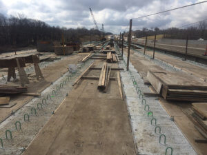 A long shot of the Middle Rier bridge progress in Warren County.