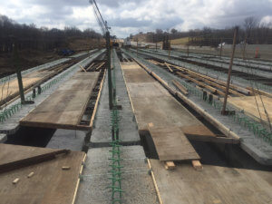 Infrastructure sets on the the North River Bridge.