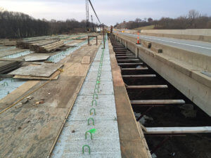North River bridge progress.