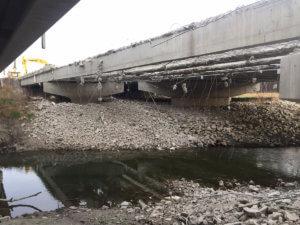 Warren County Bridge demolition results.