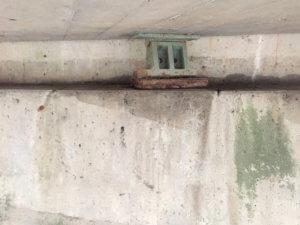 Underside of an old bridge in Warren County.