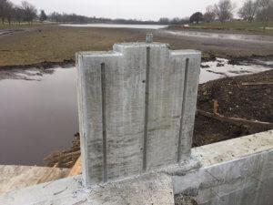 Details on the concrete of McKinley Lake bridge.