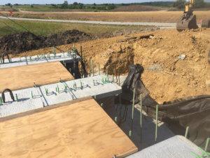 Exposed infrastructure of the Warren County bridge.