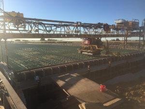 The Warren County bridge is prepped for a concrete pour.