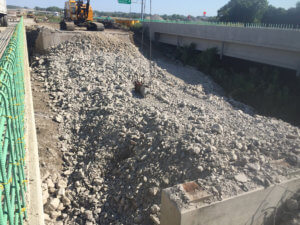 Demolition is completed on the Middle River bridge.