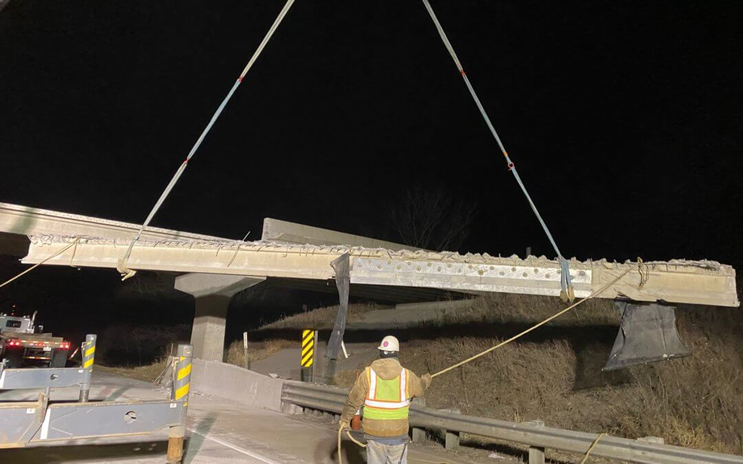 Beam Removal on Fillmore Street, over I-35 | Warren County | 2019